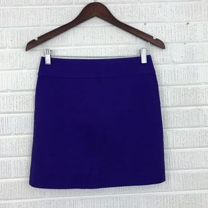 J. Crew Double Serge Cotton Mini Skirt Purple 00